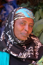 A shrouded Muslim Oromo woman  [For similar search Ethnic Smile Face]