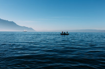 people fishing on a boat in Switzerland