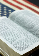 Bible on an American flag