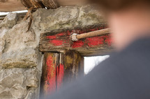 painting blood on a doorway for passover