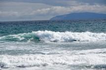 view of Catalina Island from Huntington Beach, California