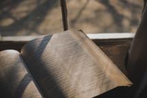 open Bible in a window