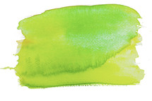 A lime green paint splotch.