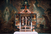 paintings around a tabernacle
