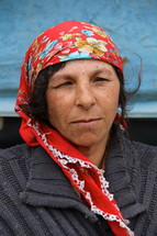 Face of a Romanian Gypsey woman
