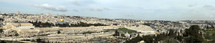 Panoramic picture of Jerusalem with the Temple Mount and the Dome of the Rock