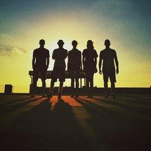 silhouette of friends