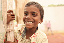 smiling boy child in India