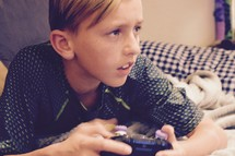 a child playing an XBOX one video game