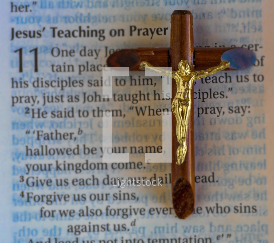 Jesus teaching on Prayer Bible scripture