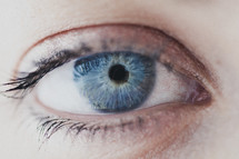 A closeup of a woman's eye.