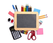 Back to School Background on a White Background