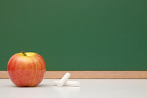 apple, chalk and chalkboard