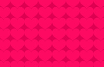 pink hearts on red background pattern background