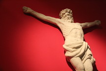 Sculpture of crucified Jesus