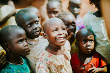 smiling young children in Africa