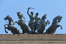 triumphant horse and chariot sculpture