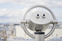 view finder scope over a city
