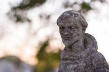 stone Saint Francis statue
