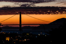 The Golden Gate Bridge at Sunset San Francisco