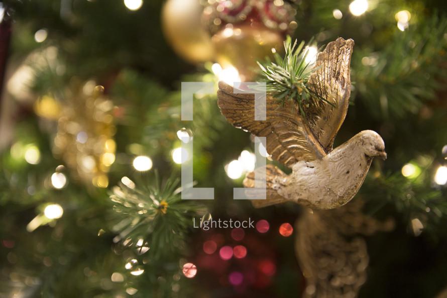 dove Christmas ornament