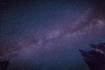 Looking straight up into the night sky without a moon reveals  a canopy of stars, planets, nebulae, dust lanes and celestial objects innumerable.