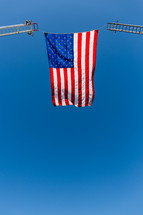 American Freedom flying an American flag red white and blue Independence, 4th of july