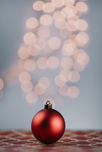 Christmas ornament and bokeh light
