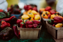 peppers at a market