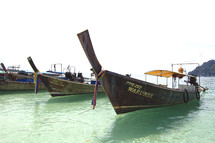 tropical fishing boats