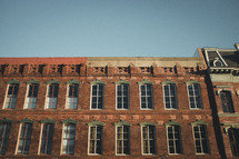 windows on a brick warehouse building