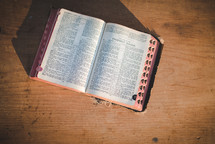 A Bible open to the book of Isaiah
