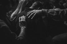 prayer and worship at a worship service