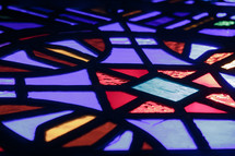 stained glass window closeup