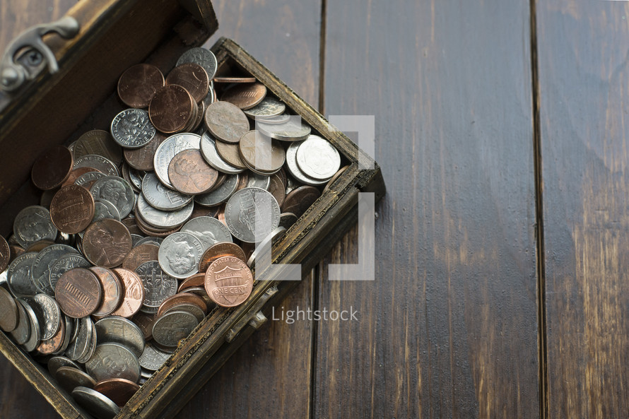 a chest of coins