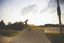 man skateboarding on a ramp
