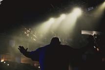 man leading a worship service