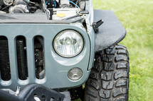 Jeep headlights and tires