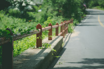 barrier along the side of a road