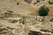 Ruins of ancient Pella in Jordan, location where early Christians fled to during the destruction of the Temple in Jerusalem around 70 AD