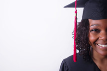 face of an African American graduate