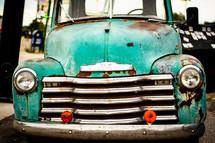 vintage turquoise vehicle
