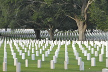A cemetery of memorials for fallen soldiers