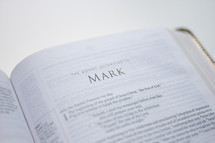 book of Mark in a Bible