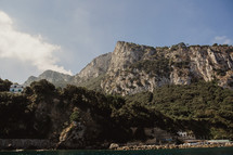 cliffs along a shoreline in Italy