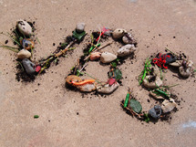 VBS written with rocks and bugs.