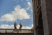 Statues of buildings in Rome