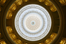 top of a dome interior