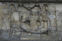 Indonesian wall statue