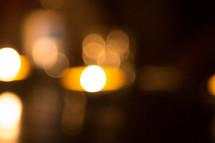 bokeh candle light